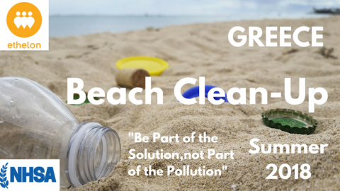 Beach clean-up with ethelon and NHSA